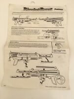 VINTAGE PALITOY RICOCHET RACERS SPARE INSTRUCTION SHEET