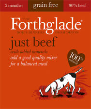 Forthglade 100% Natural Grain Free Dog Wet Food Tray Just 90% Beef 395g x 18