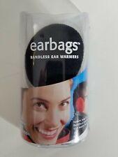 Original Earbags EAR BAGS Bandless Earmuffs w/ Storage Pouch  Sz. Medium Black
