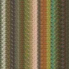 NORO ::Taiyo #109:: cotton silk wool yarn Browns-Beige-Aqua-Pumpkin