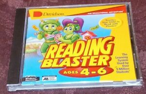 Davidson The Learning System Reading Blaster ages 4-6 PC CD-ROM