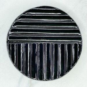 Black Plastic Ripple Texture Clip Belt Buckle