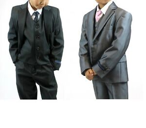 Boys Suits 5 Piece Wedding Suit Prom Page Boy Baby Formal Party Age 3 to 13 Year