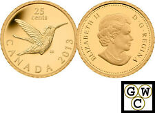 2013 'Hummingbird' Proof 25-Cent Gold Coin .9999 Fine (13140) (NT)