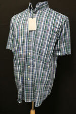 Roundtree and Yorke Men Short Sleeve Button Down Casual Shirt Sky Blue Sz M L XL