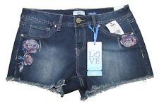 NWT Junior's YMI  Rip & Tear S357 EMBROIDERED Frayed Jean Short Shorts Sz 9