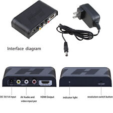 Composite AV CVBS 3RCA Video Audio to HDMI Converter Box HD 720p 1080p Upscaler
