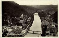 Bad Ems Rheinland-Pfalz ~1940 Partie Blick vom Kriegerdenkmal Totale Brücke