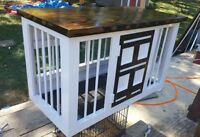 Custom wooden kennel dog crates any color or size! Local pickup only for now.