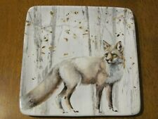 """New listing Certified International 8"""" Square Red Fox Plate Woodland Walk Perfect"""