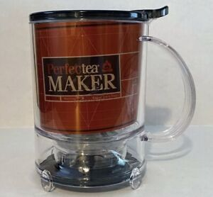 Teavana Perfectea Perfect Tea Maker 16oz Black For Loose Leaf Brew Steep New