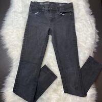 Madewell Womens Skinny Skinny Jeans Size 26 Black Wash Stretch Denim Mid Rise