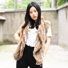Knitted Rabbit Fur Gilet, Real Fur Gilet, Real Fur Vest