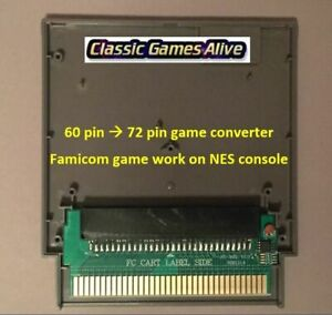 Famicom 60 Pin to NES 72 Pin Adaptor Converter - For NES Game Console USA