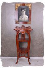 étagère console acajou bois art nouveau étagère Table Lyre Colonne de fleurs
