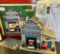 Lemax AMERICAN CUSTOMS Auto Body Shop Exclusive CHRISTMAS VILLAGE Car Mechanic
