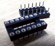 10 x Harwin D2814F01SP 14 way turned pin  IC socket D2814 519790
