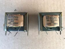 Orig NOS Two Basler Transformers - Basler Electric Pri 120V 60Hz Sec.6.3V 1A