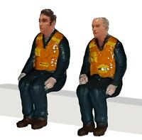 FG04  4 x Workmen Sitting Figures unpainted OO scale