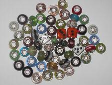 50 x  Random Glass Lampwork Beads fits European Charm Bracelets