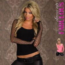 Regular Size Nylon Solid Long Sleeve Tops & Blouses for Women