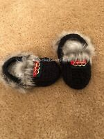 Baby Crochet Fur Sandals Loafers Shoes Slippers Princetown