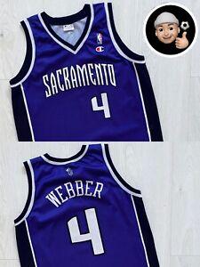 L 2002 2004 Sacramento Kings Chris Webber Vintage Retro NBA Basketball Jersey