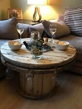 Bespoke made to order upcycled coffee tables with ice bucket and glass holders