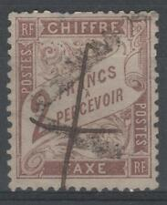 """FRANCE STAMP TIMBRE TAXE N° 26 """" TYPE DUVAL 2F MARRON """" OBLITERE A VOIR N659"""