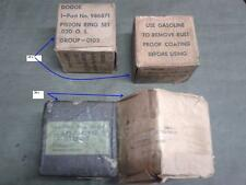 DODGEs 0.20 & 0.30 NOS PISTONS RINGS SET for VC-1 to WC-64KD(G502s),M37(G741s)