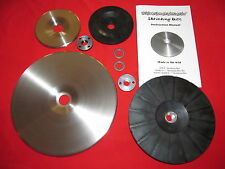 """Shrinking Disc DELUXE Combo Kit 9"""" & 4.5"""" discs w/ BOTH backing pads and Manual!"""