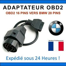 Adaptateur OBD2 vers BMW 20 PINS - E30 E34 E6 E45 E39 INPA K+DCAN Diag OBDII