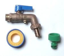 1/2 Inch Brass Lever Outside Tap | Double Check Valve + Garden Hose Pipe Fitting