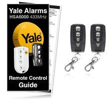 2 X Yale Alarm Remote Keyfob Controller HSA6060 6000