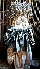 Amazing Ooak Gown Incorporating Antique Fretwork Sleeves & Appliques Must See!