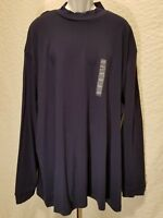 New JA John Ashford Big & Tall Men's Size 4XLT Long Sleeve Navy Blue T Shirt