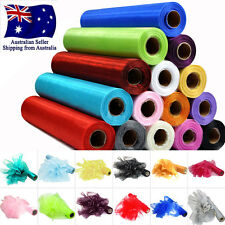 29cm x 25m Crystal Sheer Organza Fabric Tulle Roll Party Wedding Chair Sash Bows