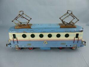 RARE locomotive loco MERKUR éch : 0 E-LOK BOBINA IKARIA CSD tôle  , fonctionne