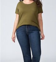 Lane Bryant Womens Jeans Size 18 Blue Dark Wash Boot Cut Denim Pants