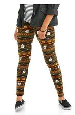 No Boundaries Plush Soft Leggings XL Womens Halloween Footless Skeleton NWOT