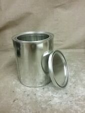 New Unbranded Quart Silver Metal Empty/Never Used Paint Can w/Lid