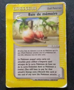 Dresseur BAIE DE MEMOIRE 128/147 - AQUAPOLIS - CARTE POKEMON 2002 VF