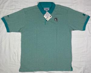 Vtg Florida Marlins Starter Mens Large Teal S/S Polo Shirt A7