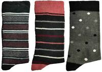 3 Pairs of Ladies JA16 Patterned Cotton Socks by Jennifer Anderton , UK Size 4-8