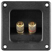 Lautsprecher Terminal 2fach 2x Leiste Rechteck für z.B. Boxen Bassbox Bassröhre