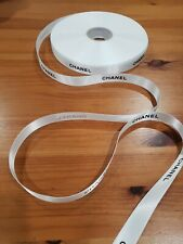 """Gift Wrapping Chanel Black Letter on White 72 """" Ribbon_Wide 0.6"""""""