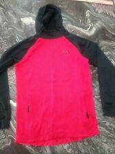 Men's Under Armour Cold Gear Size Small Red Hoodie Long Sleeve Sweatshirt