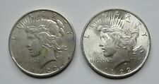1922-P & 1922-D Peace Silver Dollars - Nicer AU - No Reserve!