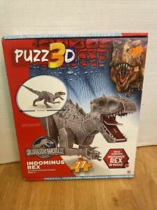 Jurassic World Indominus Rex 3D Foam Backed 77pc Dinosaur Puzzle NEW