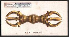 Tibet Buddbist Dorje Talisman Amulet - Original 1920s Trade Ad Card Nepal